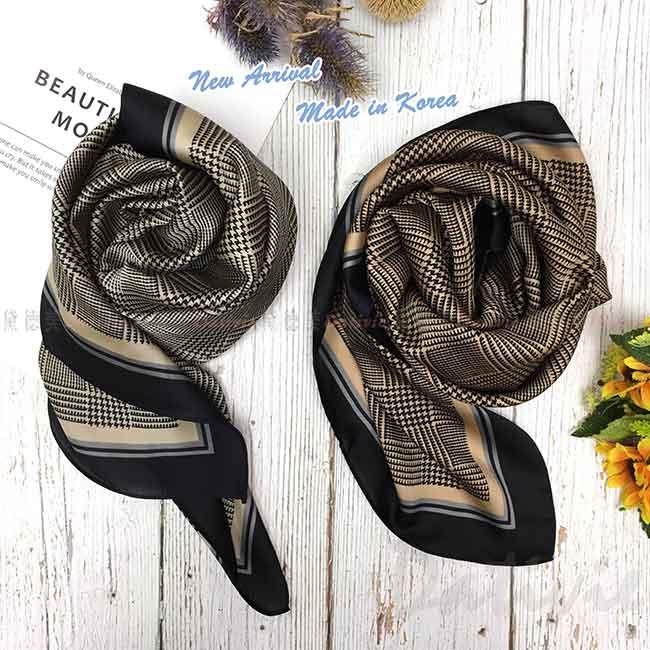 絲質方巾 韓國 二色 領巾