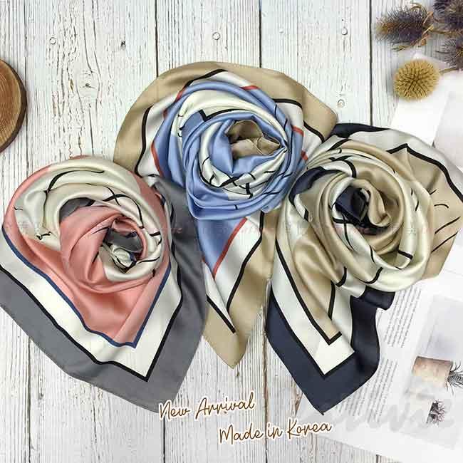 絲巾 韓國 方巾 三色 親膚 領巾