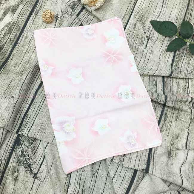 雙層紗布毛巾 花 粉色 純棉 日本製