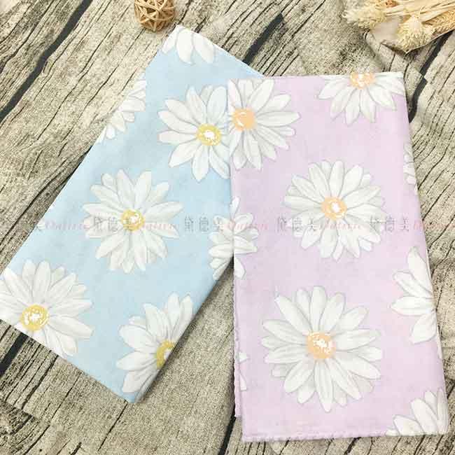 紗布巾 100%棉 兩色 雛菊 雙層紗布毛巾 日本製