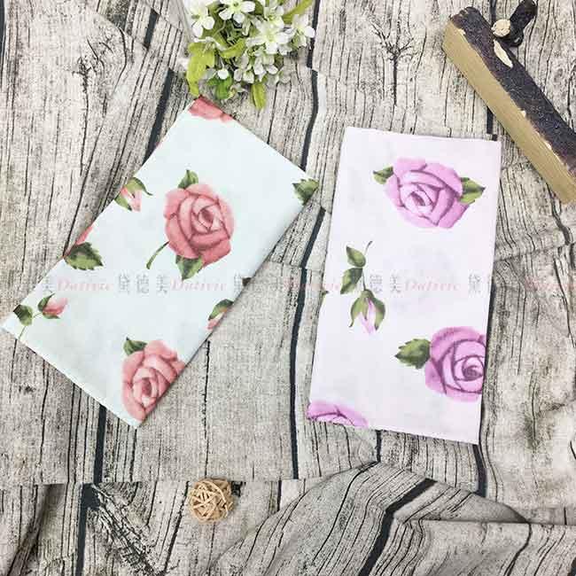 雙層紗布毛巾 薔薇 100%棉 玫瑰 兩色 紗布巾 日本製