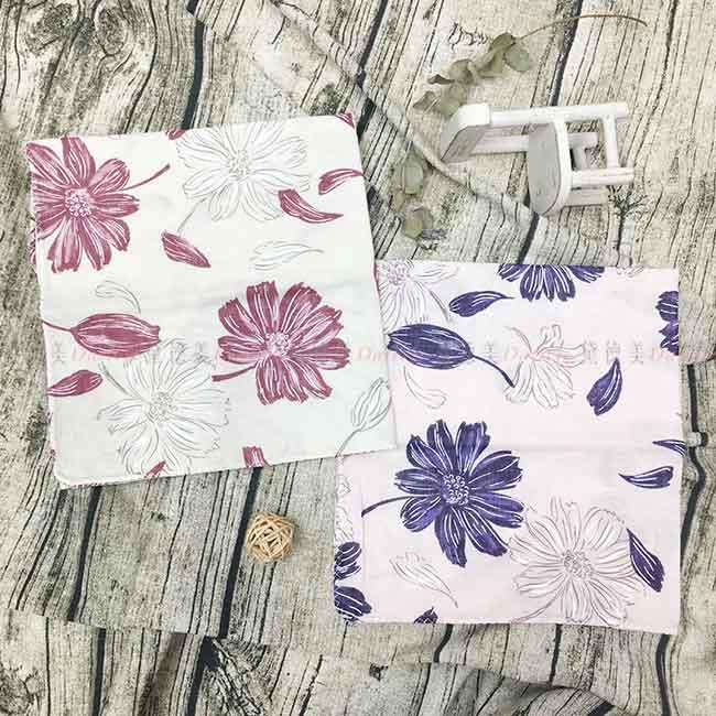 紗布巾 花 雙層紗布毛巾 100%棉 兩色 日本製
