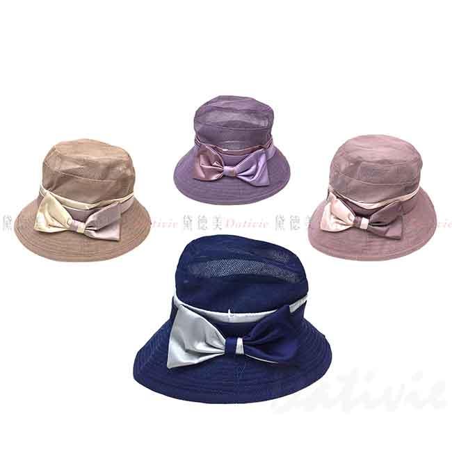 淑女帽 撞色蝴蝶結 4色 帽子