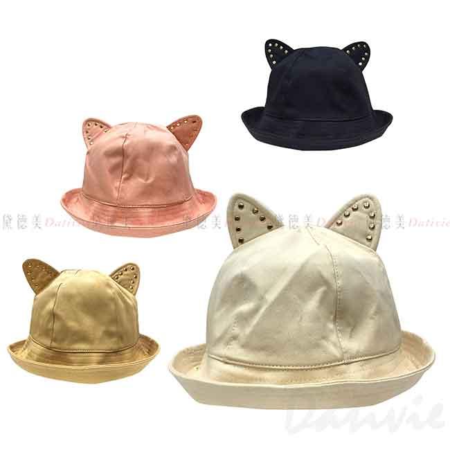 流行帽 耳朵造型 鉚釘 4色 帽子