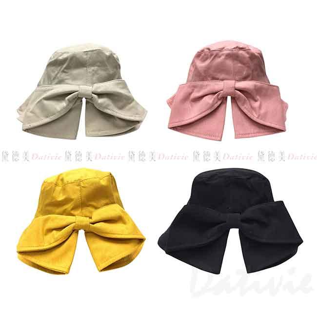 淑女帽 蝴蝶結 素色 遮陽帽