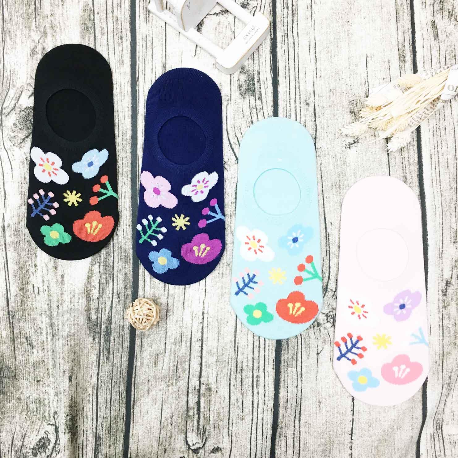 韓國襪 花 防滑襪子 隱形襪