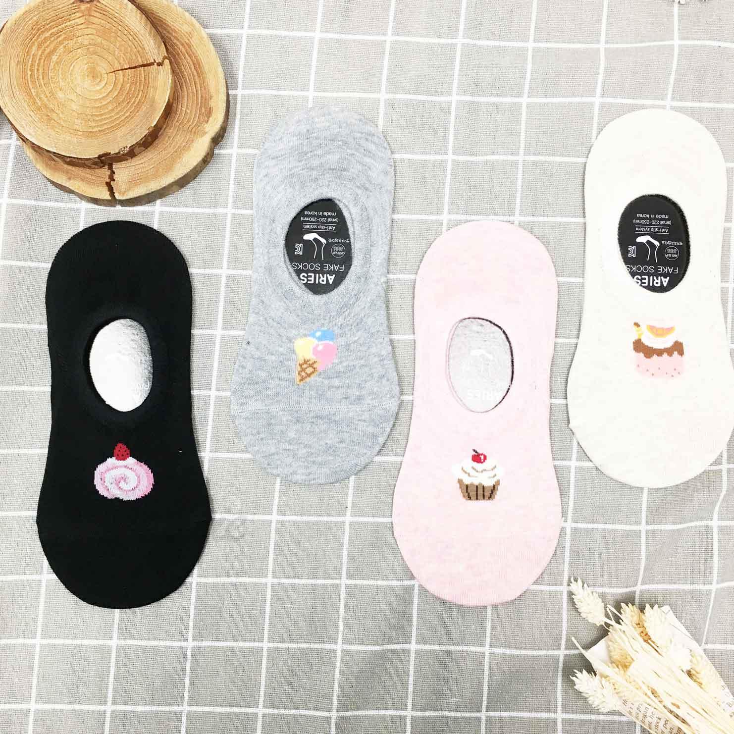 韓國襪 冰淇淋 蛋糕 止滑襪子 隱形襪