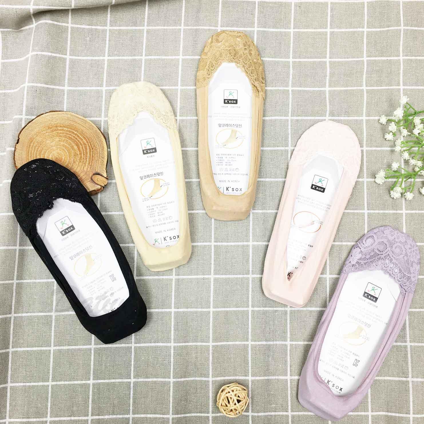 韓國襪 素色 蕾絲 防滑襪子 隱形襪