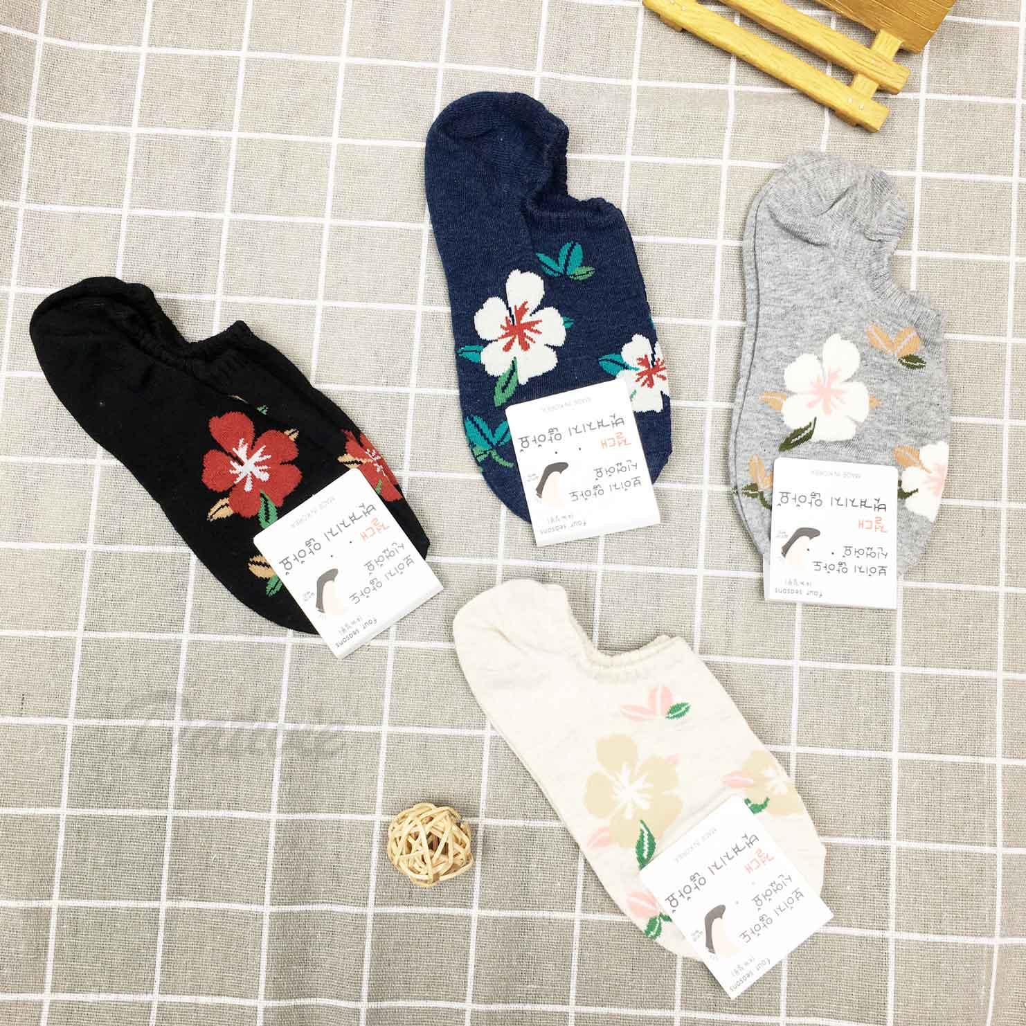 韓國襪 花 防滑襪子 隱形襪 船襪