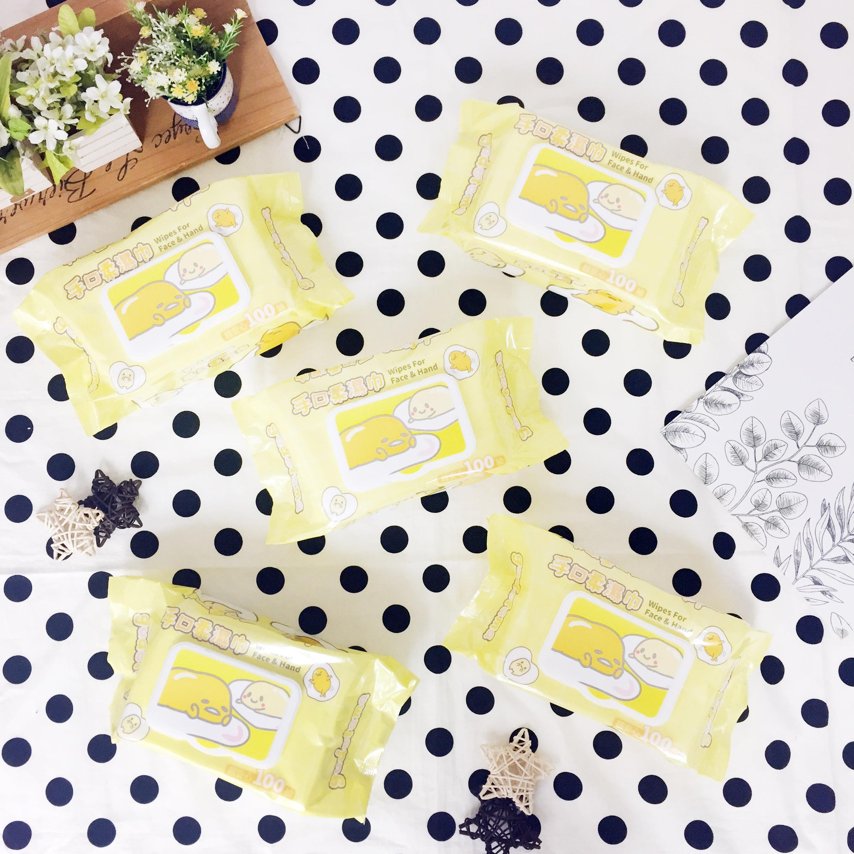 濕紙巾 三麗鷗 蛋黃哥 100抽 純水 清潔 方便 正版授權