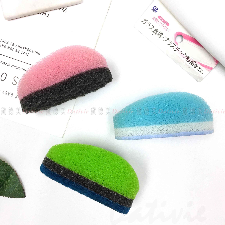 專用清潔海綿-綠 粉 藍 不鏽鋼流理台 菜瓜布 Mouse Sponge 日本製造進口