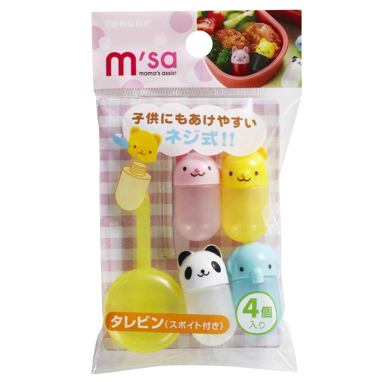 醬料罐 4ml 4入-熊貓 兔兔 小熊 大象 TORUNE 日本進口正版授權