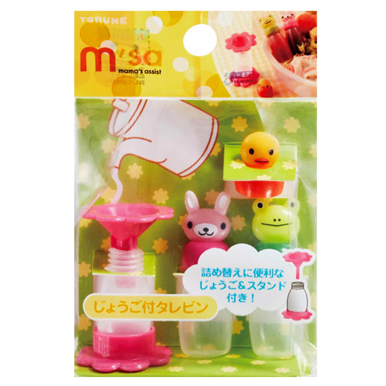 醬料罐 5ml 3入-小雞 兔兔 青蛙  TORUNE 日本進口正版授權